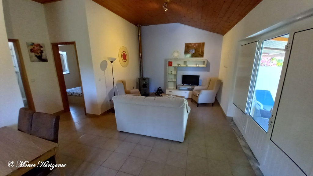 Portugal Vakantie Monte Horizonte Casa Borboleta Woonkamer